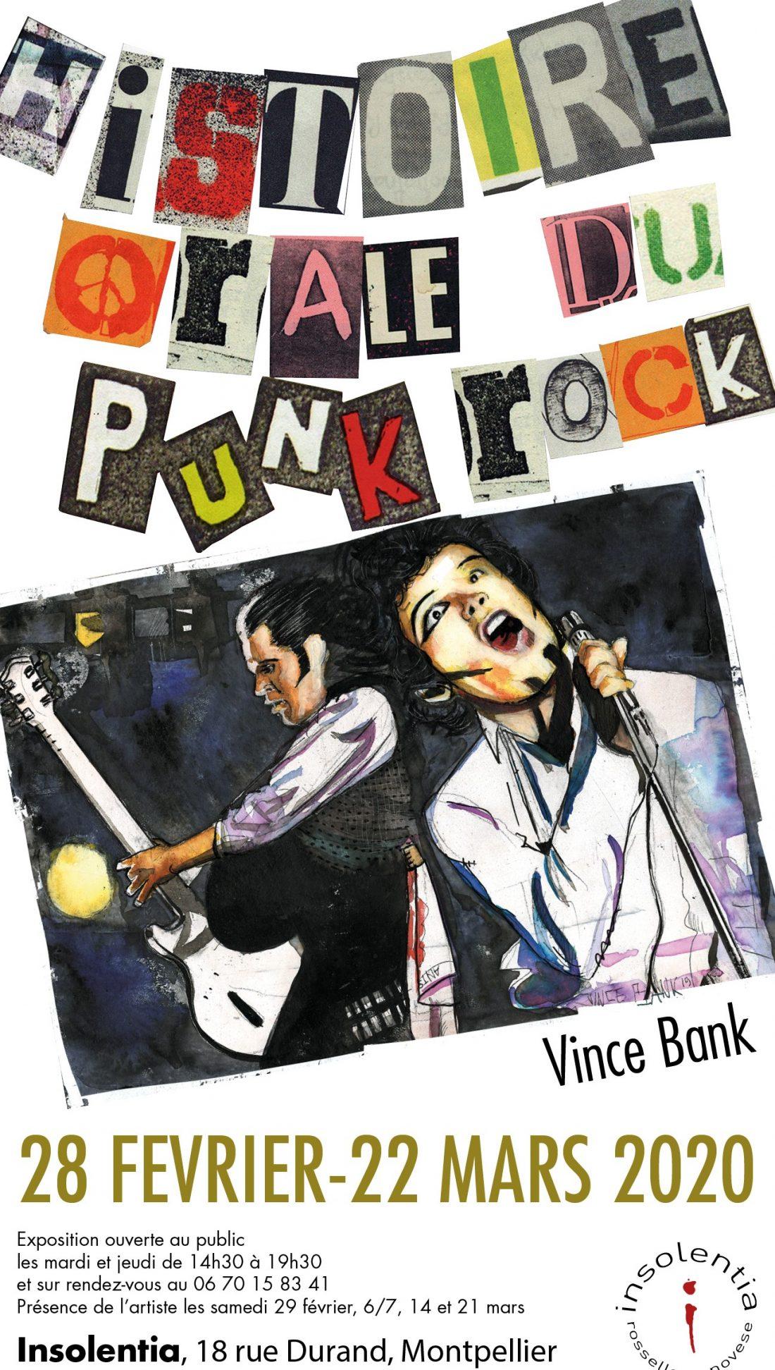 Insolentia Affiche Vince Bank - Histoire Orale du Punk Rock